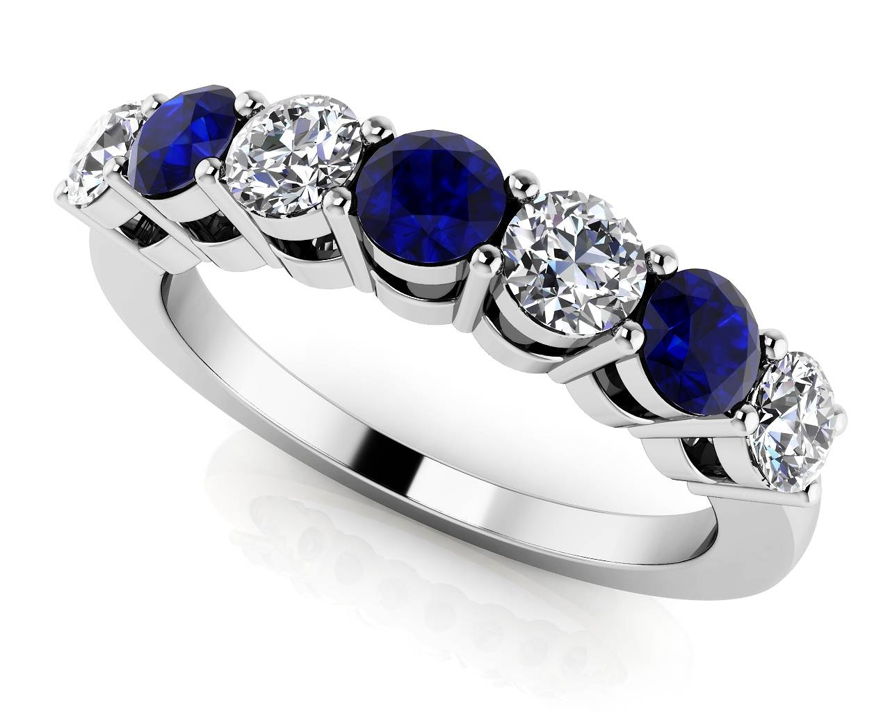 Design Your Own Diamond Anniversary Ring & Eternity Ring Pertaining To Most Up To Date Sapphire Anniversary Rings (View 7 of 25)