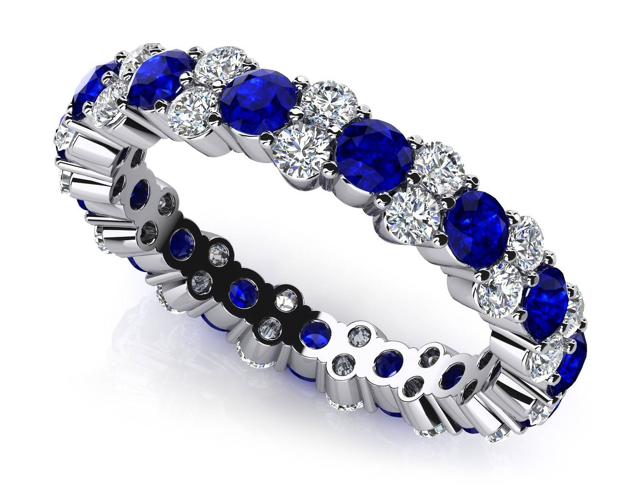 Design Your Own Diamond Anniversary Ring & Eternity Ring Within Latest Blue Diamond Anniversary Rings (View 4 of 25)