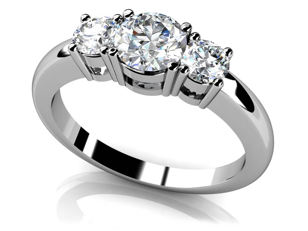 Design Your Own Three Stone Diamond Engagement Ring With Regard To Recent Anniversary Rings Designs (View 12 of 25)