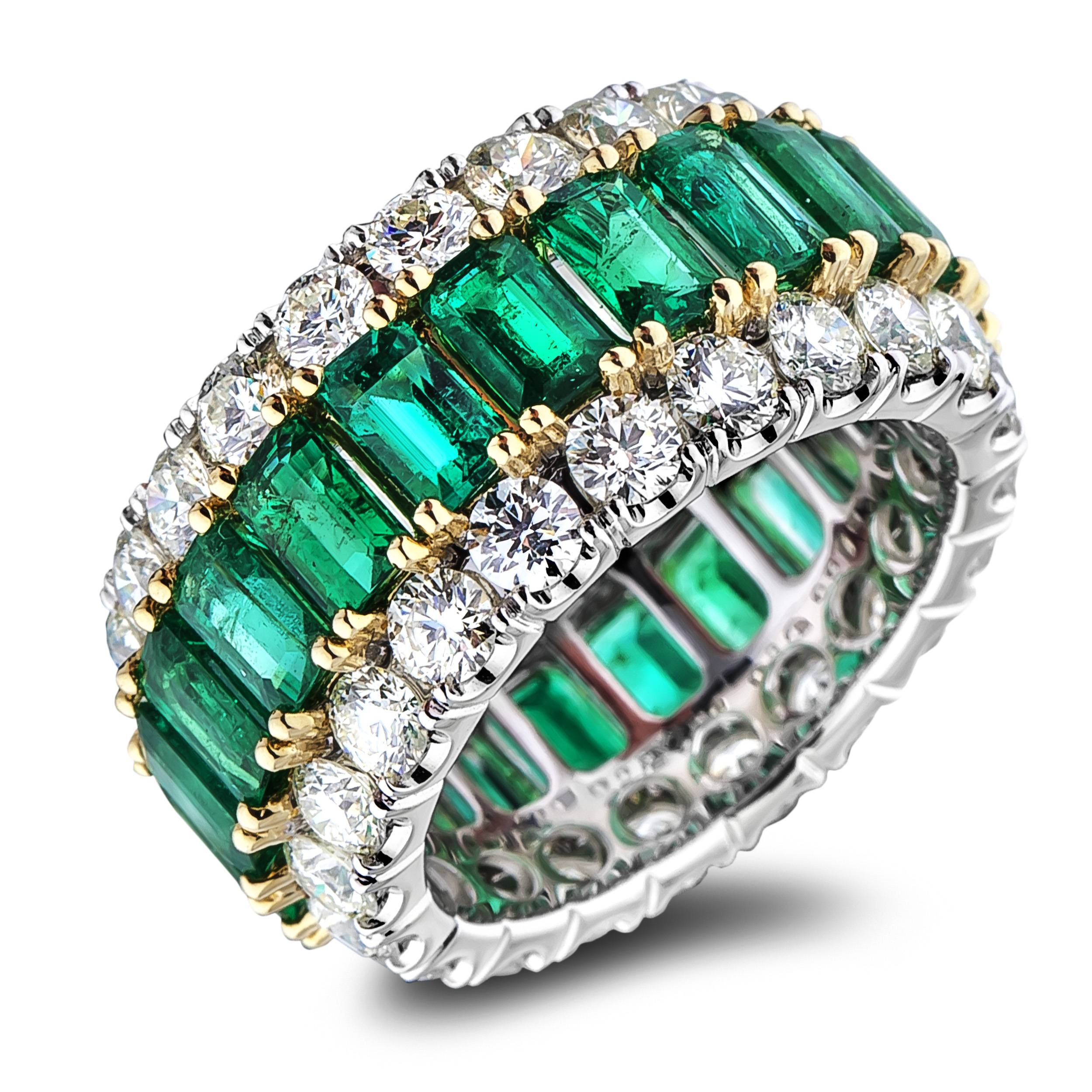Diamond Anniversary Rings – Sgr1183 – Anaya Fine Jewellery Collection Within Most Current Emerald Anniversary Rings (View 6 of 25)