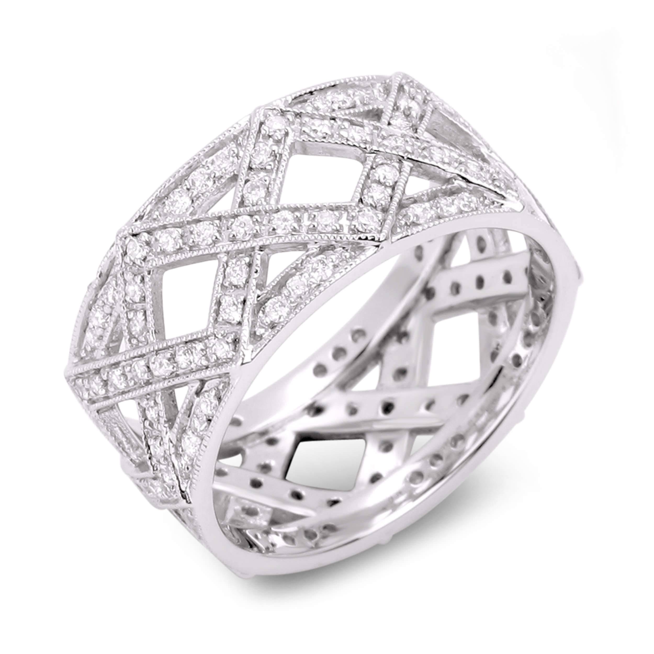 Diamond Anniversary Rings – Sgr804 – Anaya Fine Jewellery Collection For Latest Silver Anniversary Rings (View 8 of 25)
