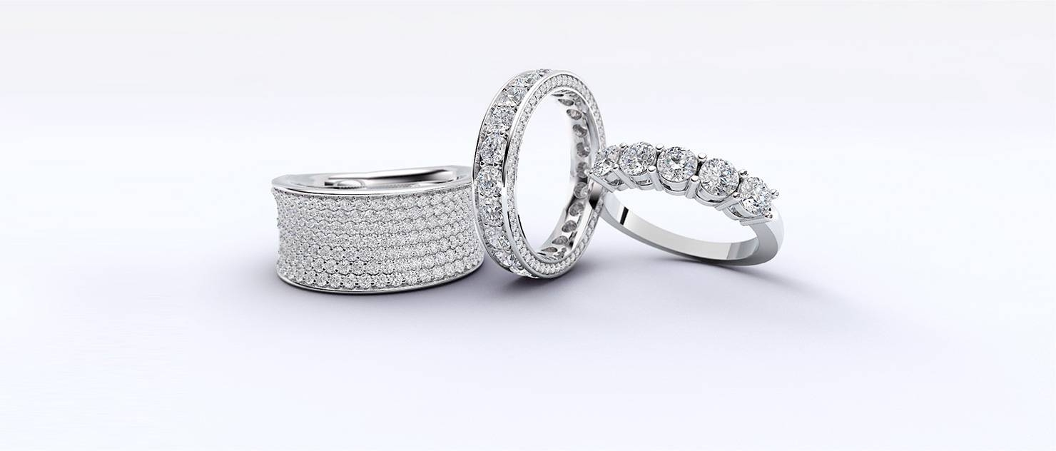 Diamond Engagement & Anniversary Rings, Bridal Wedding Sets Inside 2018 Wedding Anniversary Rings Sets (View 9 of 25)