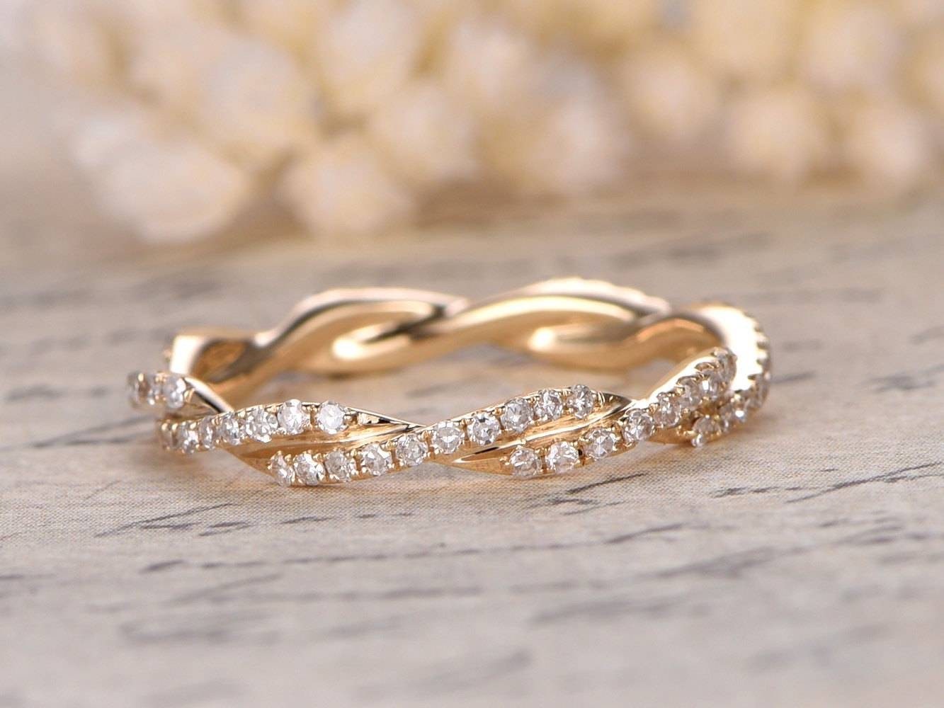 Diamond Wedding Bandfull Eternity Anniversary Ring 14K Regarding Most Recently Released Yellow Gold Anniversary Rings (View 8 of 25)