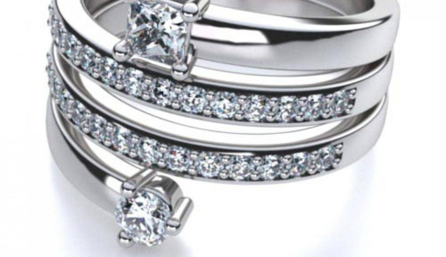 Diamonds : Gorgeous Three Diamond Anniversary Ring Meaning Regarding Current Affordable Anniversary Rings (View 10 of 25)