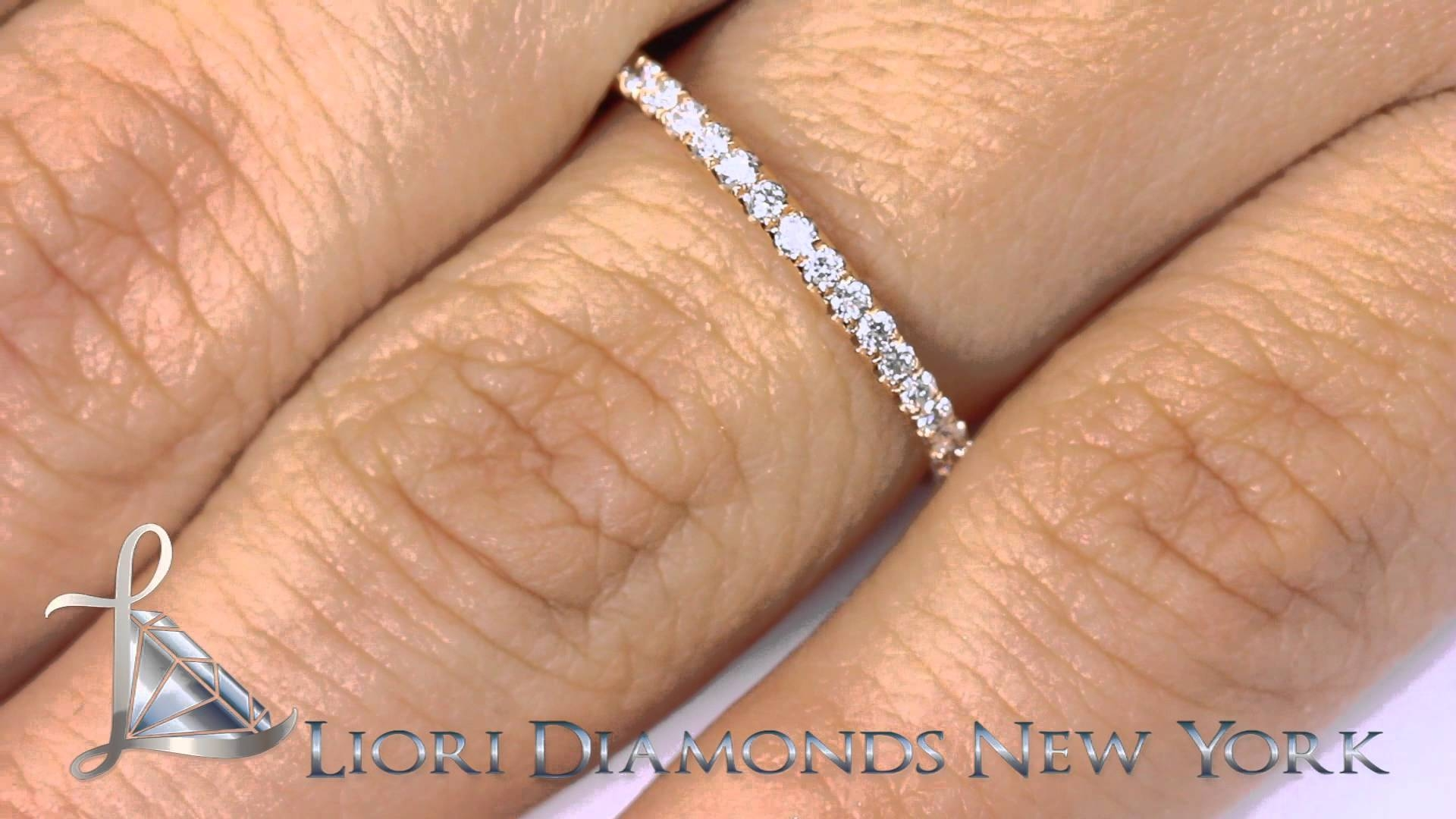 Eb 16 – 0.44 Ct. Micro Pave Diamond Eternity Wedding Band In Most Recently Released Pave Anniversary Rings (Gallery 16 of 25)