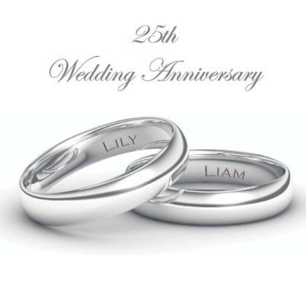 25 years wedding anniversary rings