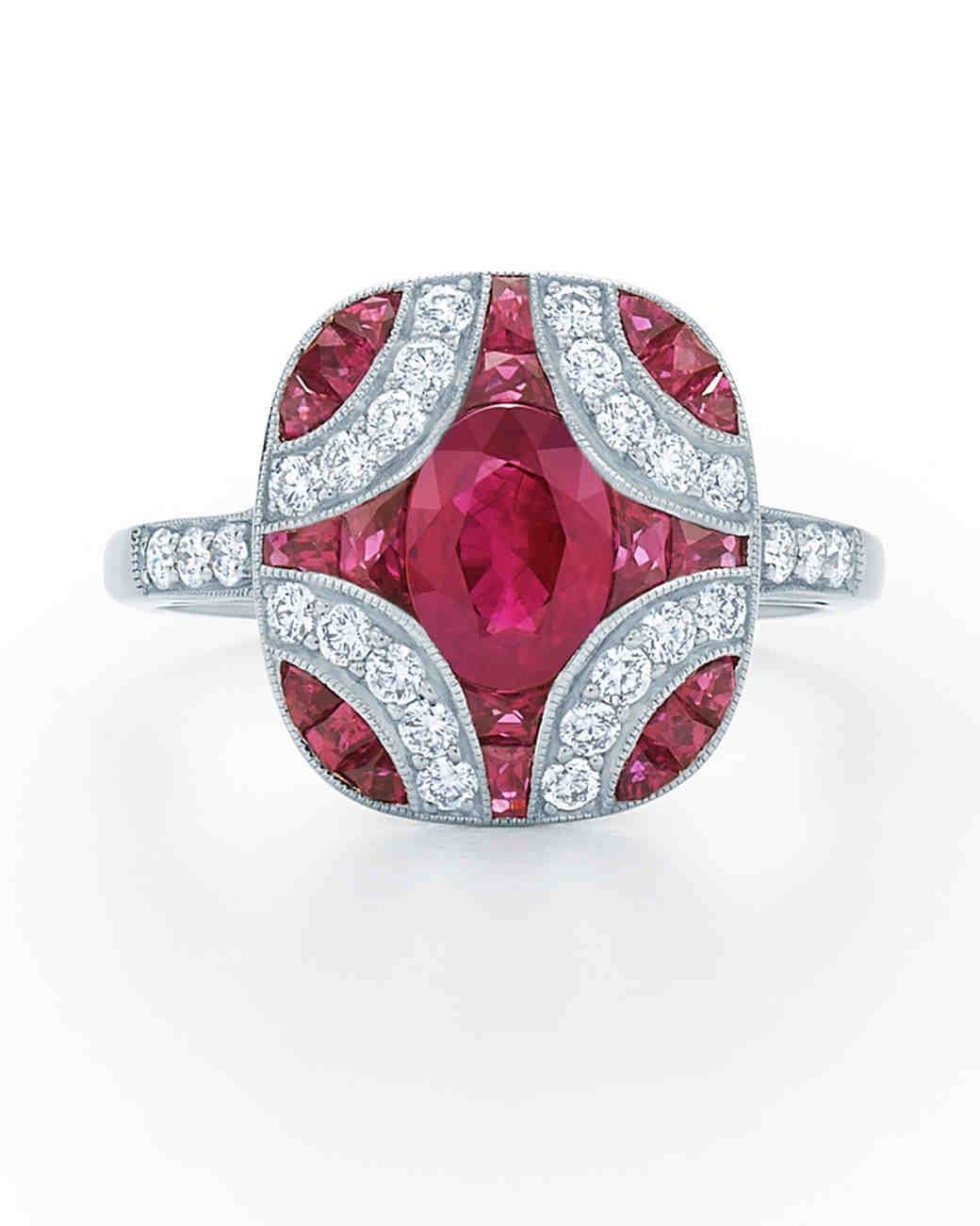 Elegant Ruby Wedding Rings | Fototails Within Best And Newest Ruby Anniversary Rings (View 23 of 25)