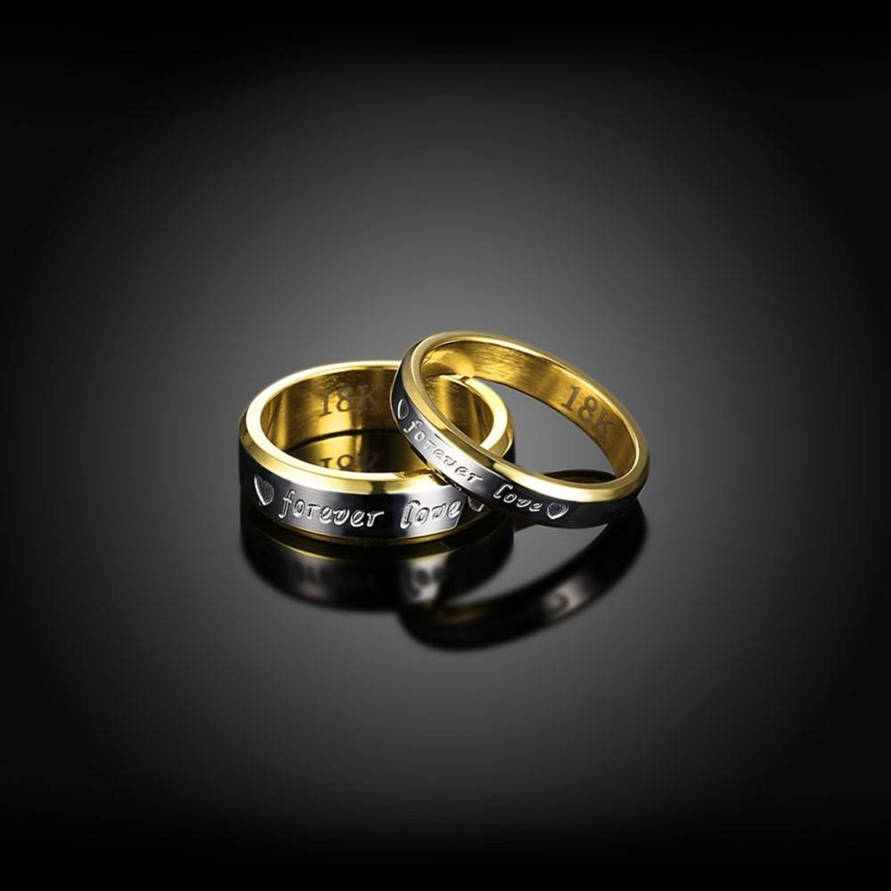 Engraving Name Anniversary Rings For Women & Men Gold Color For Most Current Engraving Anniversary Rings (Gallery 12 of 25)