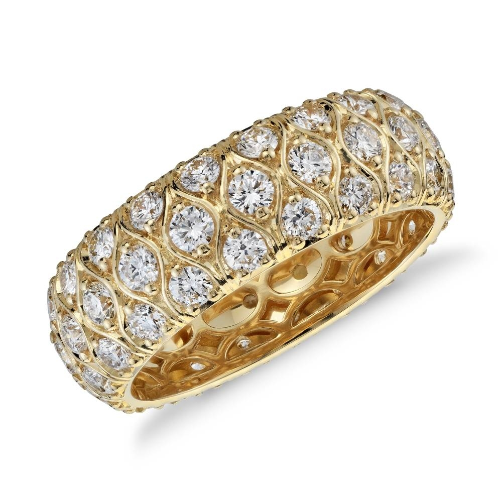 Fancy And Classy With Gold Diamond Rings For Women — Marifarthing Blog Throughout Most Popular Yellow Gold Anniversary Rings For Womens (View 11 of 25)