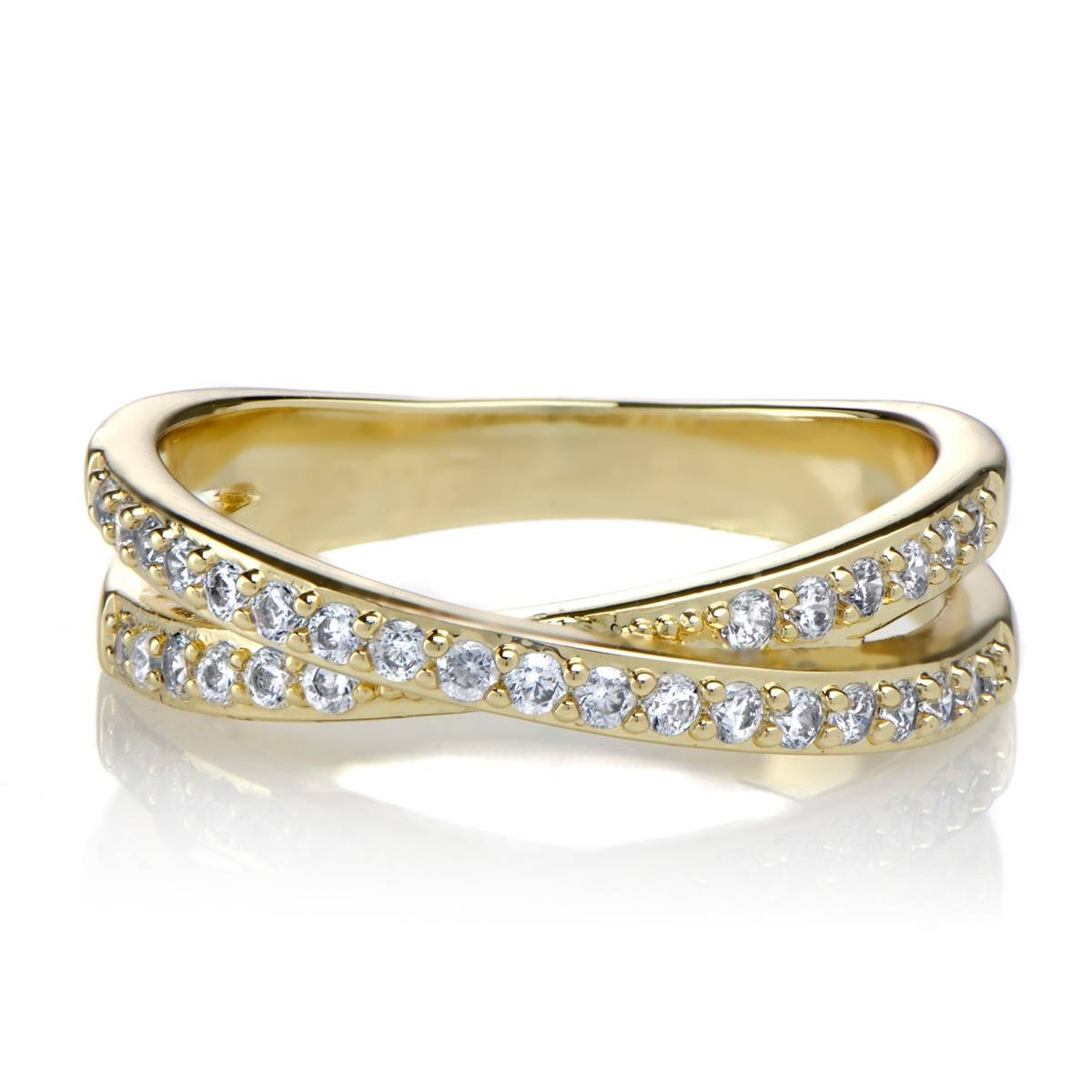 Gold Cz Rings (View 8 of 25)