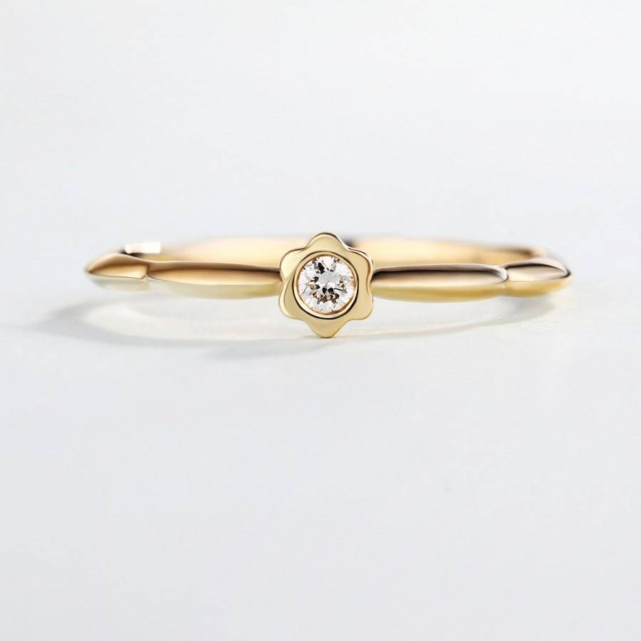 Gold Wedding Ring, Gold Diamond Ring, Rose Gold Diamond Ring Inside Most Popular Stacking Anniversary Rings (View 11 of 25)