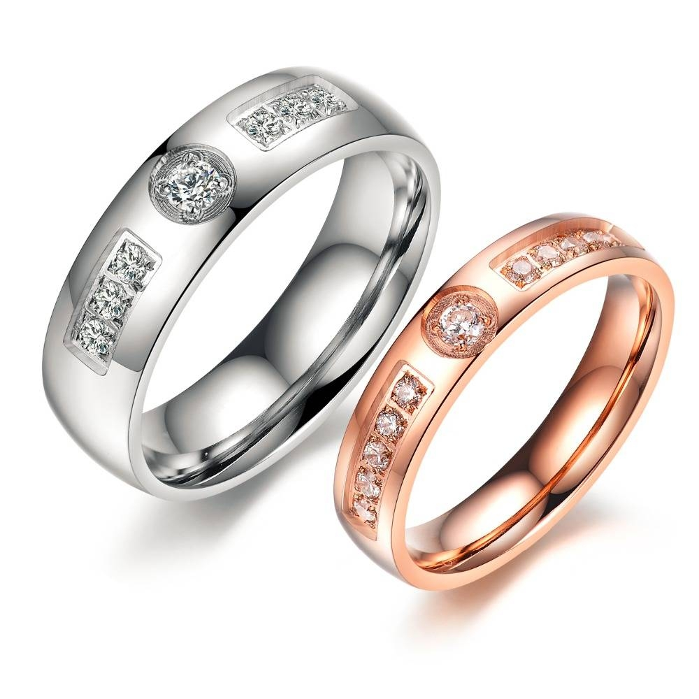 His And Hers Matching Ring Set Engagement Promise Rings Stainless Pertaining To 2018 His And Hers Anniversary Rings (Gallery 10 of 25)
