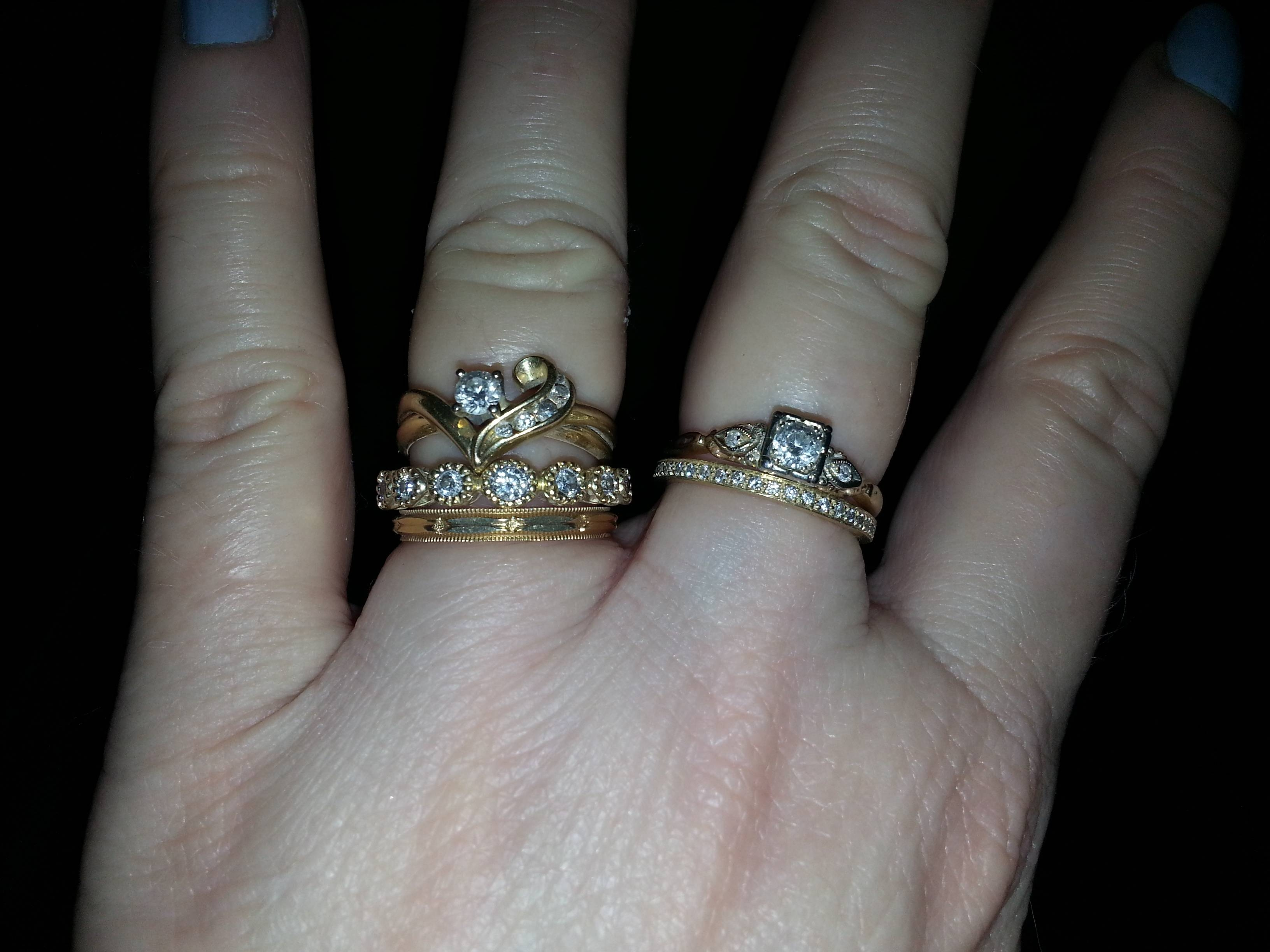 How Do You Wear Your Stacked Rings? – Weddingbee Throughout 2018 Stacking Anniversary Rings (Gallery 19 of 25)