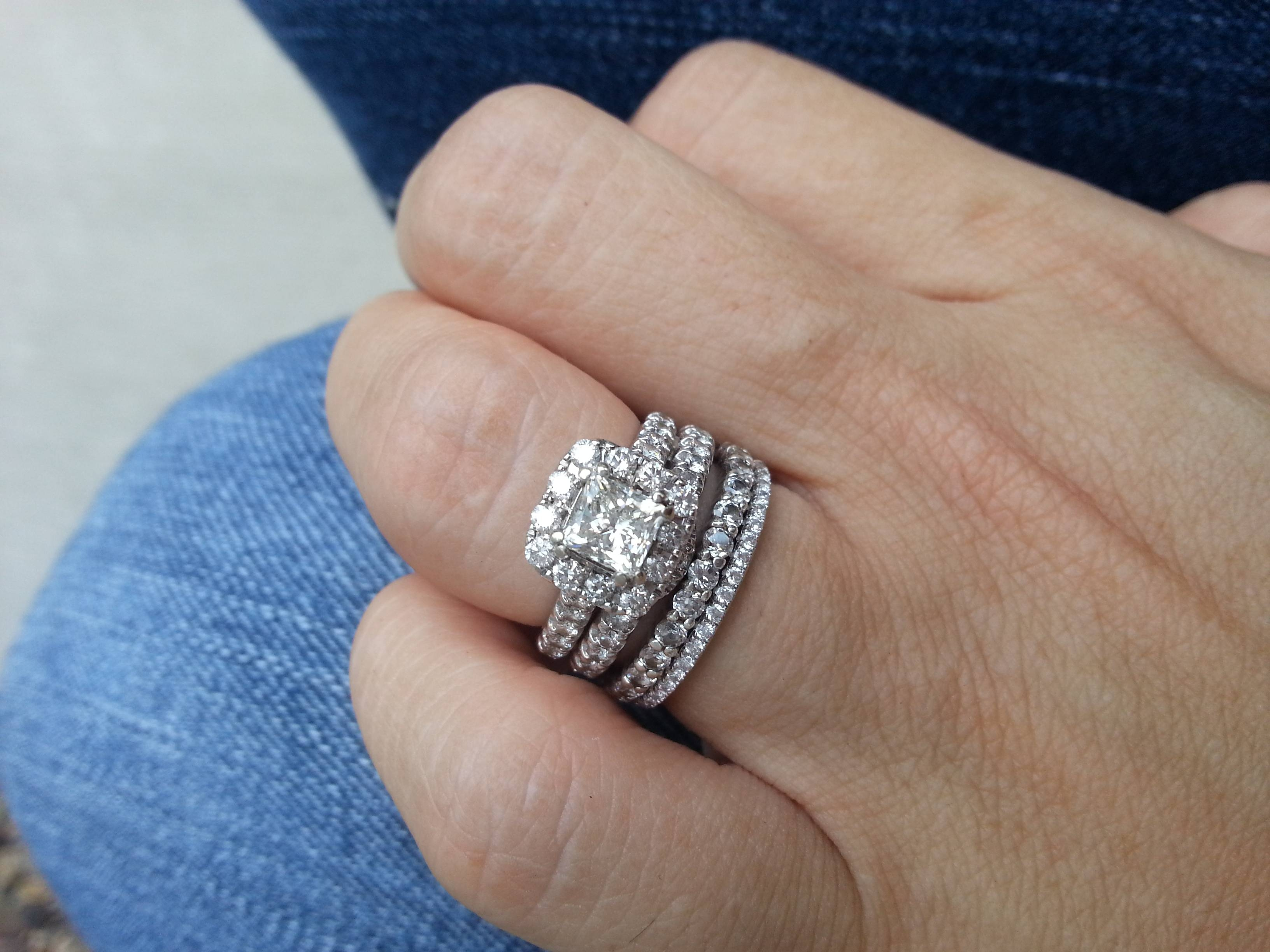 How Do You Wear Your Stacked Rings? – Weddingbee With Newest Stacking Anniversary Rings (View 2 of 25)
