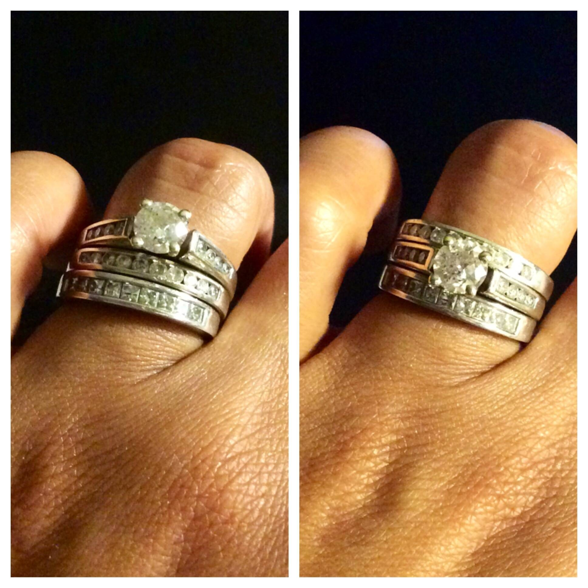 How Do You Wear Your Stacked Rings? – Weddingbee With Regard To Most Popular Stacking Anniversary Rings (Gallery 12 of 25)