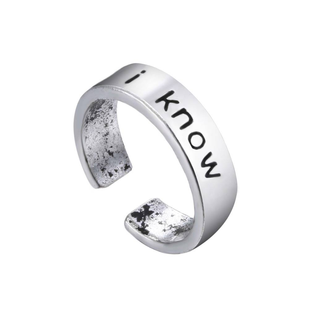 I Love You I Know Couples Rings Set Anniversary Ring Set Wedding Inside Most Recently Released Anniversary Rings For Couples (View 16 of 25)