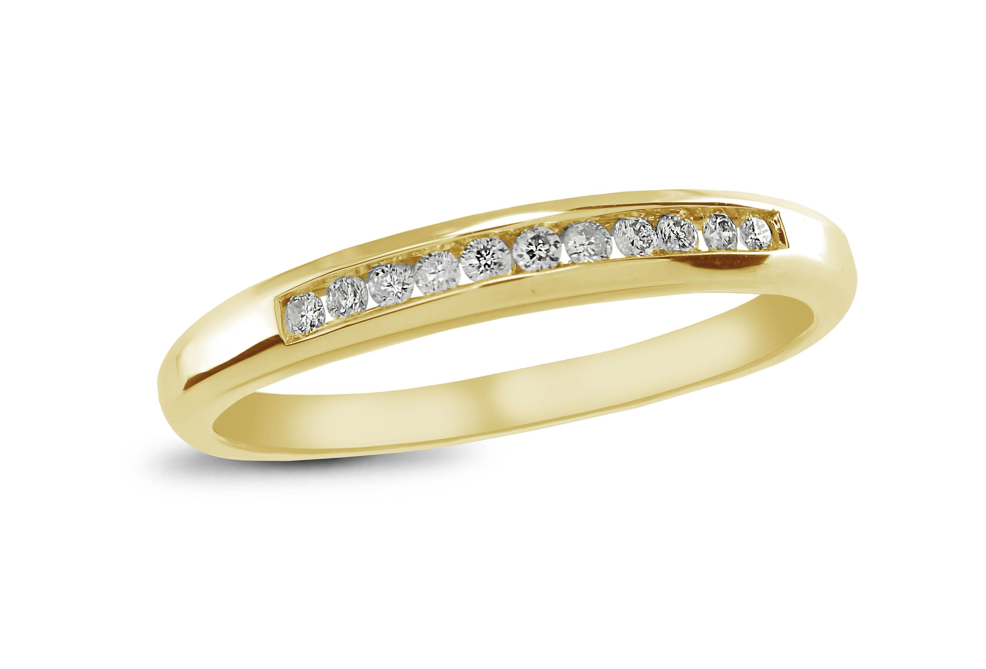 Infinity Yellow Gold Channel Set Diamond Anniversary Ring | Charm With Most Up To Date Gold Anniversary Rings (View 16 of 25)