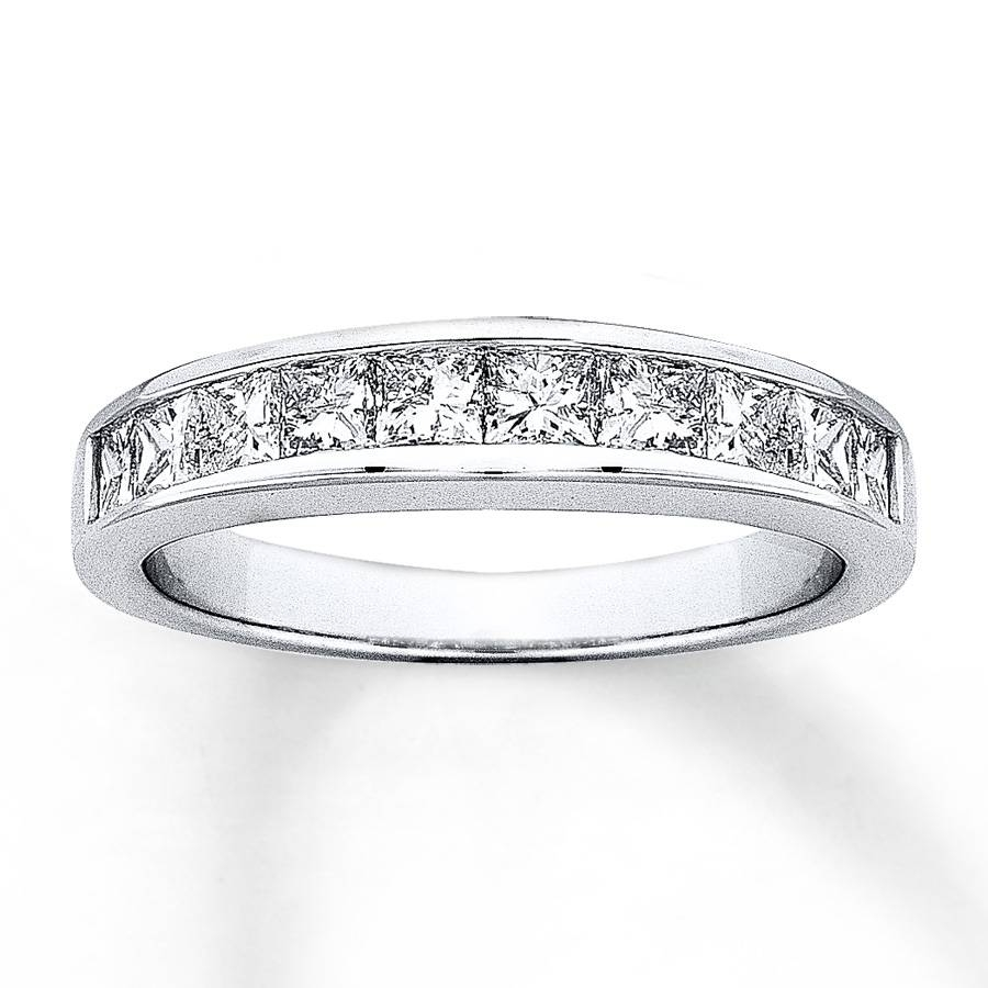 Jared – Diamond Anniversary Band 1/2 Ct Tw Princess Cut 14K White Gold For Latest Jared Diamond Anniversary Rings (Gallery 17 of 25)