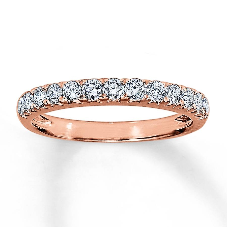 Jared – Diamond Anniversary Band 1/2 Ct Tw Round Cut 14K Rose Gold Within Recent Jared Diamond Anniversary Rings (View 5 of 25)