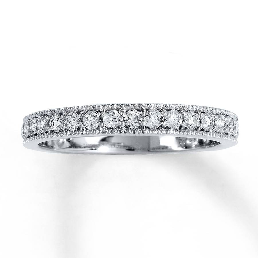 Jared – Diamond Anniversary Band 1/2 Ct Tw Round Cut 14K White Gold Intended For Recent 1 Carat Diamond Anniversary Rings (View 4 of 15)