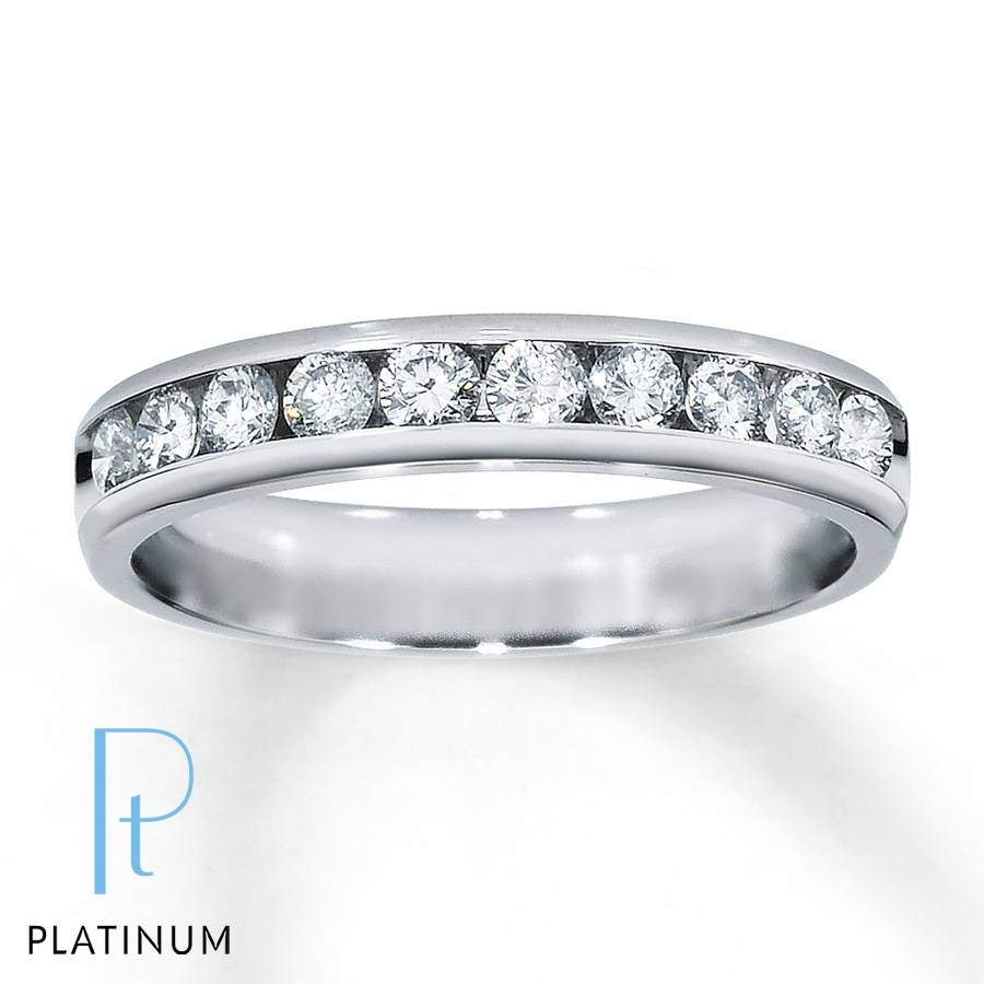 Jared – Diamond Anniversary Band 1/2 Ct Tw Round Cut Platinum Pertaining To Most Recent Jared Diamond Anniversary Rings (View 6 of 25)