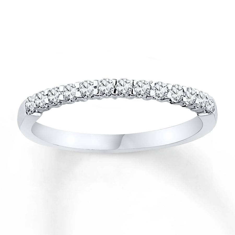 Jared – Diamond Anniversary Band 1/4 Ct Tw Round Cut 10K White Gold Intended For 2018 Jared Diamond Anniversary Rings (View 7 of 25)