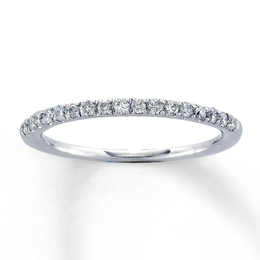Jared – Diamond Anniversary Band 1/4 Ct Tw Round Cut 14K White Gold Throughout Current Jared Diamond Anniversary Rings (View 8 of 25)