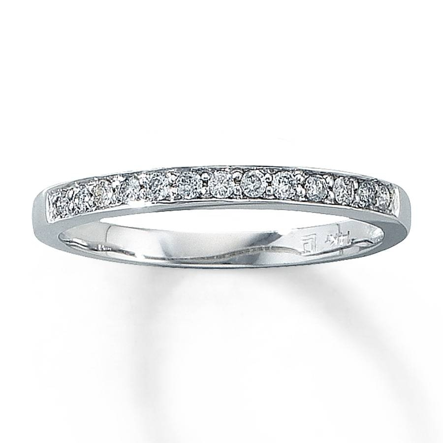 Jared – Diamond Anniversary Band 1/8 Ct Tw Round Cut 14K White Gold Pertaining To Current Jared Diamond Anniversary Rings (View 9 of 25)
