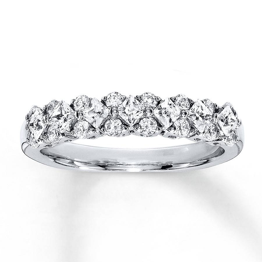 Jared – Diamond Anniversary Band 3/4 Ct Tw Princess Cut 18K White Gold Pertaining To Most Current 3 Carat Diamond Anniversary Rings (View 10 of 25)