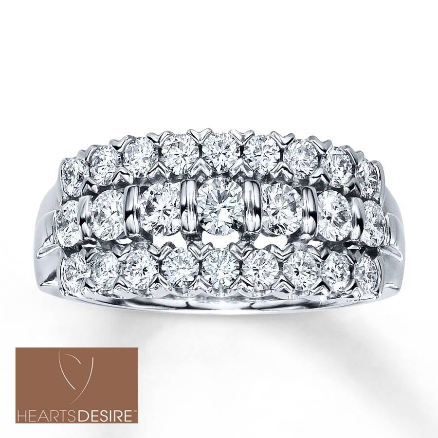 Jared – Diamond Anniversary Ring 1 1/4 Ct Tw Round Cut 18K White Gold In Most Popular Jared Diamond Anniversary Rings (View 12 of 25)