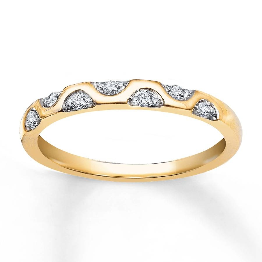 Jared – Diamond Anniversary Ring 1/10 Ct Tw Round Cut 10K Yellow Gold Inside Most Popular Jared Diamond Anniversary Rings (View 16 of 25)