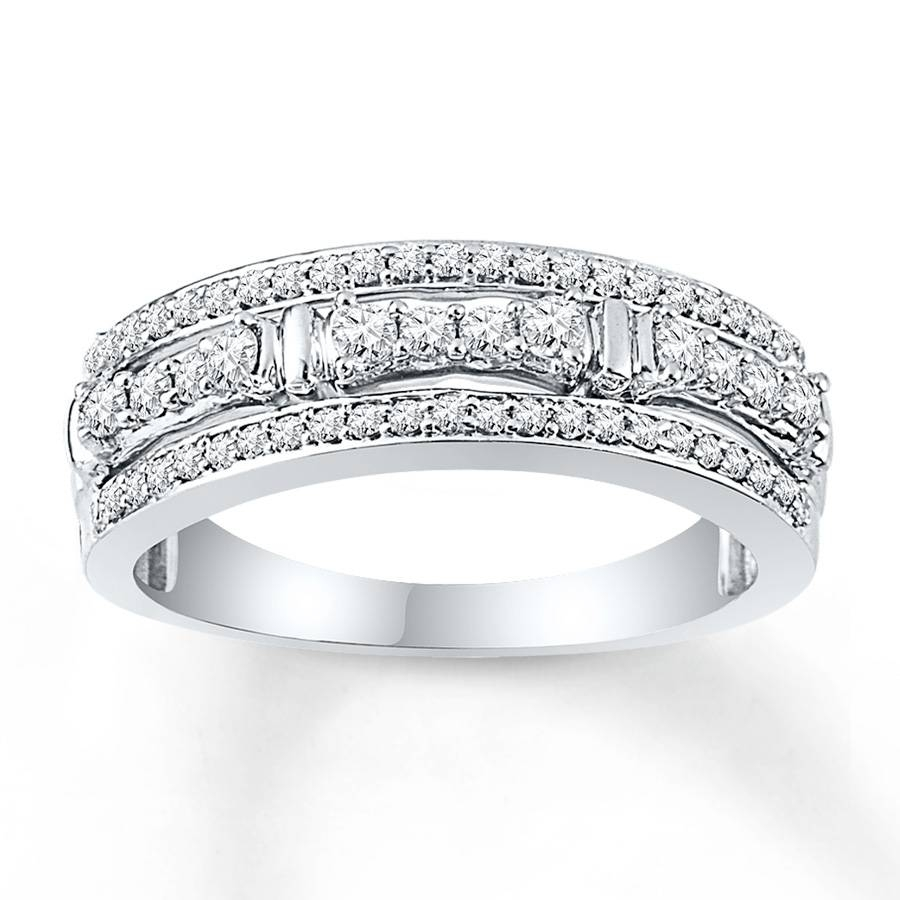Jared – Diamond Anniversary Ring 1/2 Ct Tw Round Cut 10K White Gold For Recent Jared Diamond Anniversary Rings (Gallery 15 of 25)
