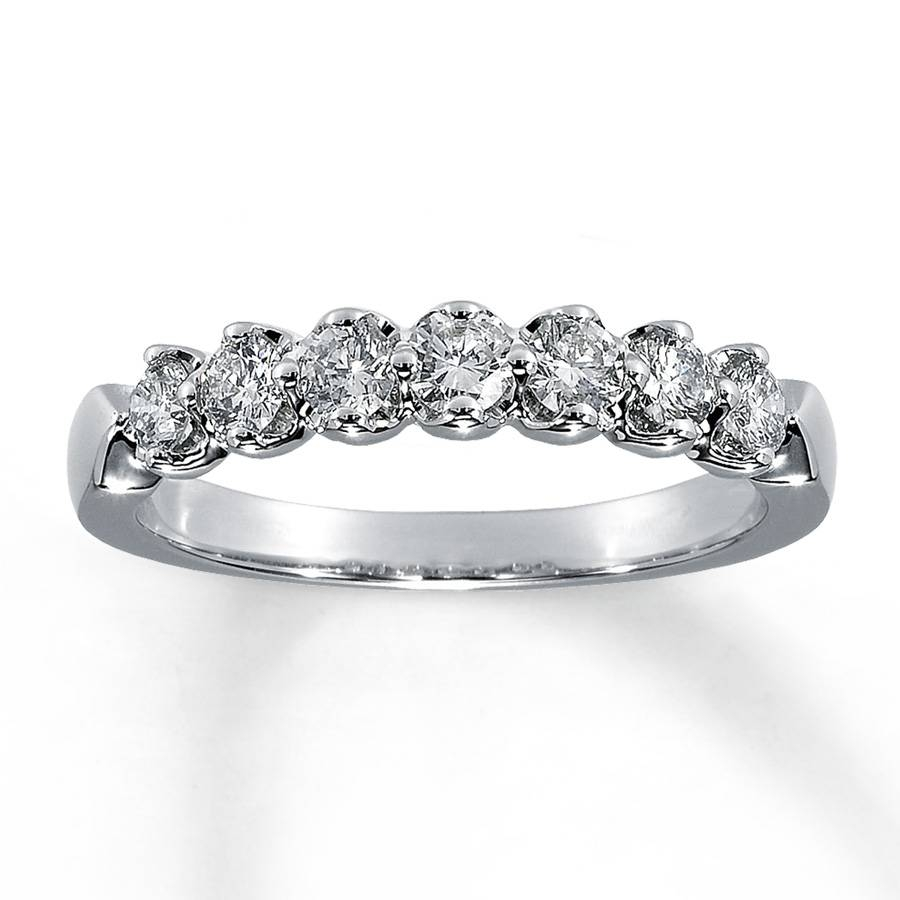 Jared – Diamond Anniversary Ring 1/2 Ct Tw Round Cut 14k White Gold Regarding Most Recently Released 1 Ct Diamond Anniversary Rings (View 11 of 15)