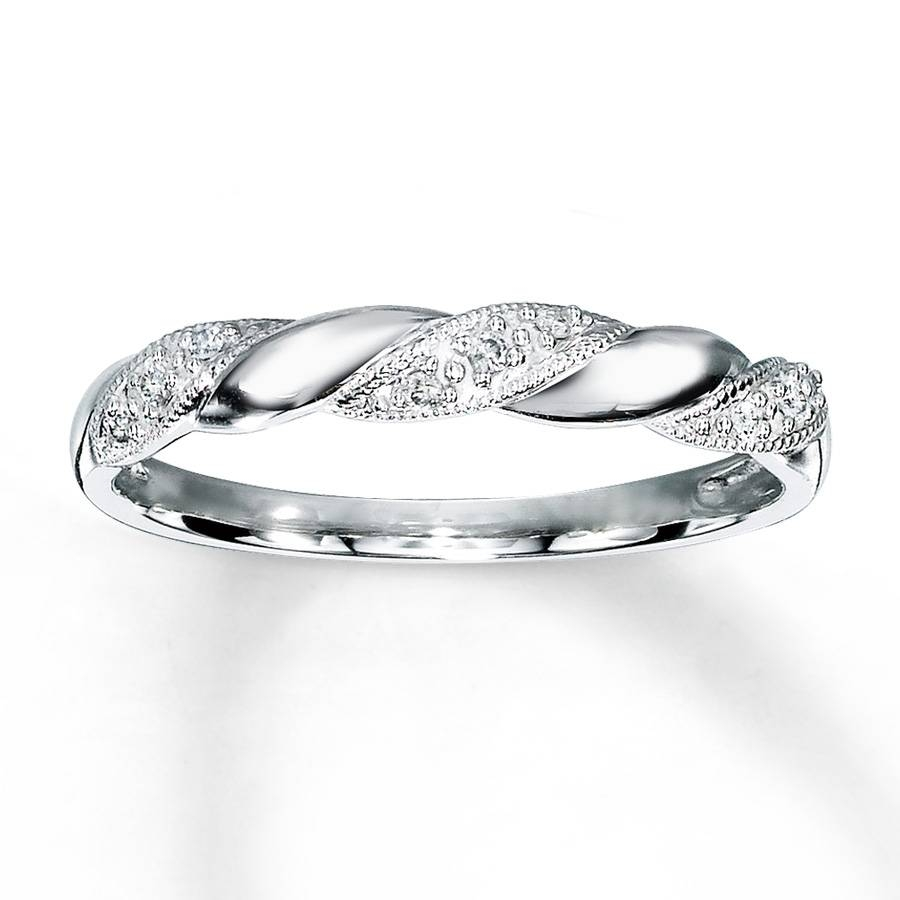 Jared – Diamond Anniversary Ring 1/20 Ct Tw Round Cut 10K White Gold In Recent Jared Anniversary Rings (Gallery 19 of 25)