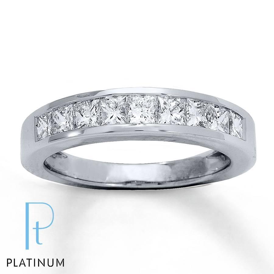 Jared – Diamond Anniversary Ring 1 Ct Tw Princess Cut Platinum In 2018 Princess Cut Diamond Anniversary Rings (View 8 of 25)
