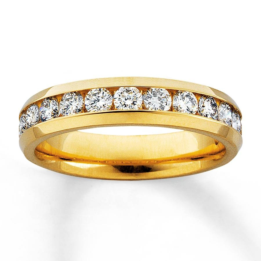 Jared – Diamond Anniversary Ring 1 Ct Tw Round Cut 14K Yellow Gold With Regard To Most Up To Date Gold Anniversary Rings (Gallery 10 of 25)