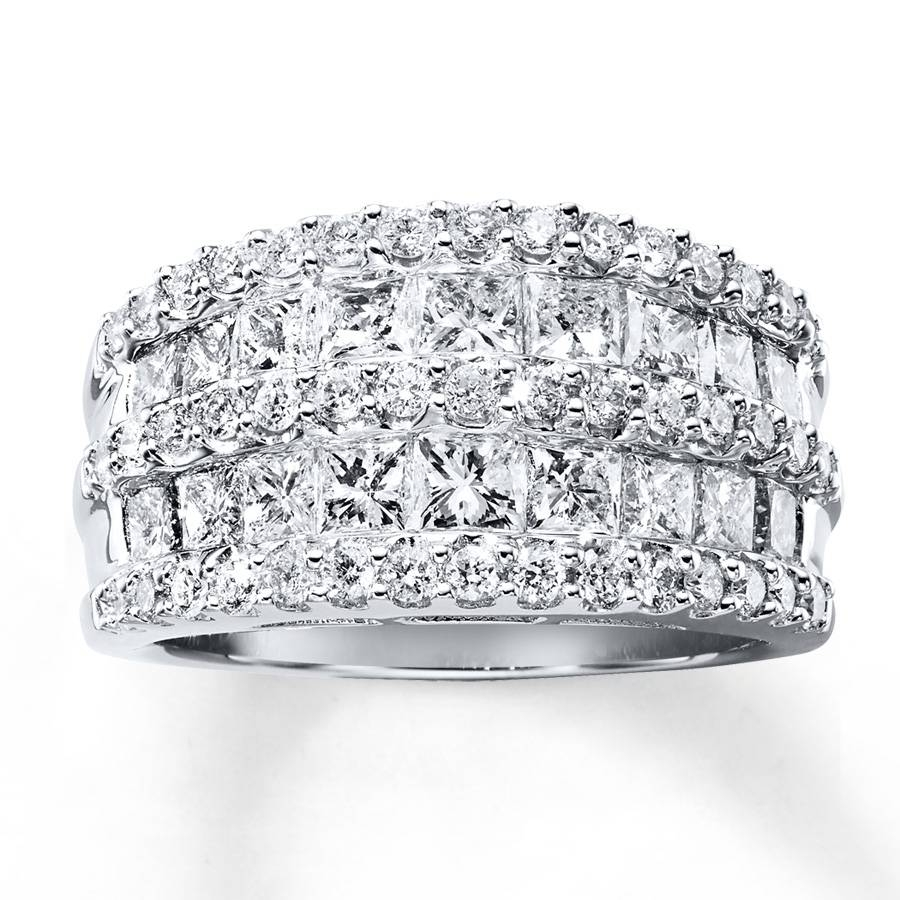 Jared – Diamond Anniversary Ring 2 1/2 Cttw Princess/round 14K Gold Regarding Current Jared Anniversary Rings (View 21 of 25)