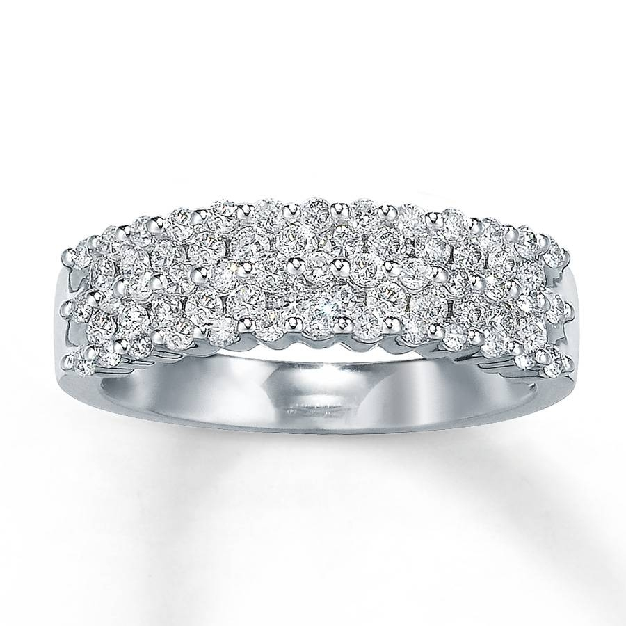 Jared – Diamond Anniversary Ring 3/4 Ct Tw Round Cut 14k White Gold In Most Popular 3 Diamond Anniversary Rings (View 16 of 25)