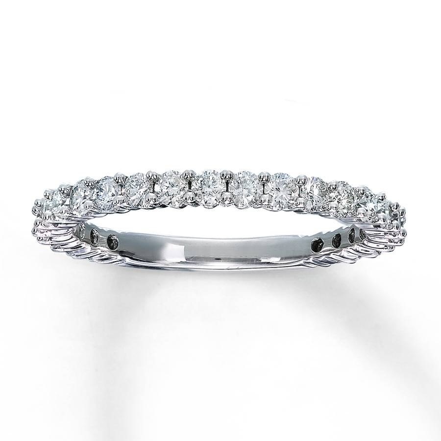 Jared – Diamond Anniversary Ring 3/4 Ct Tw Round Cut 14K White Gold Regarding Most Recent Wedding Anniversary Rings For Her (View 9 of 25)