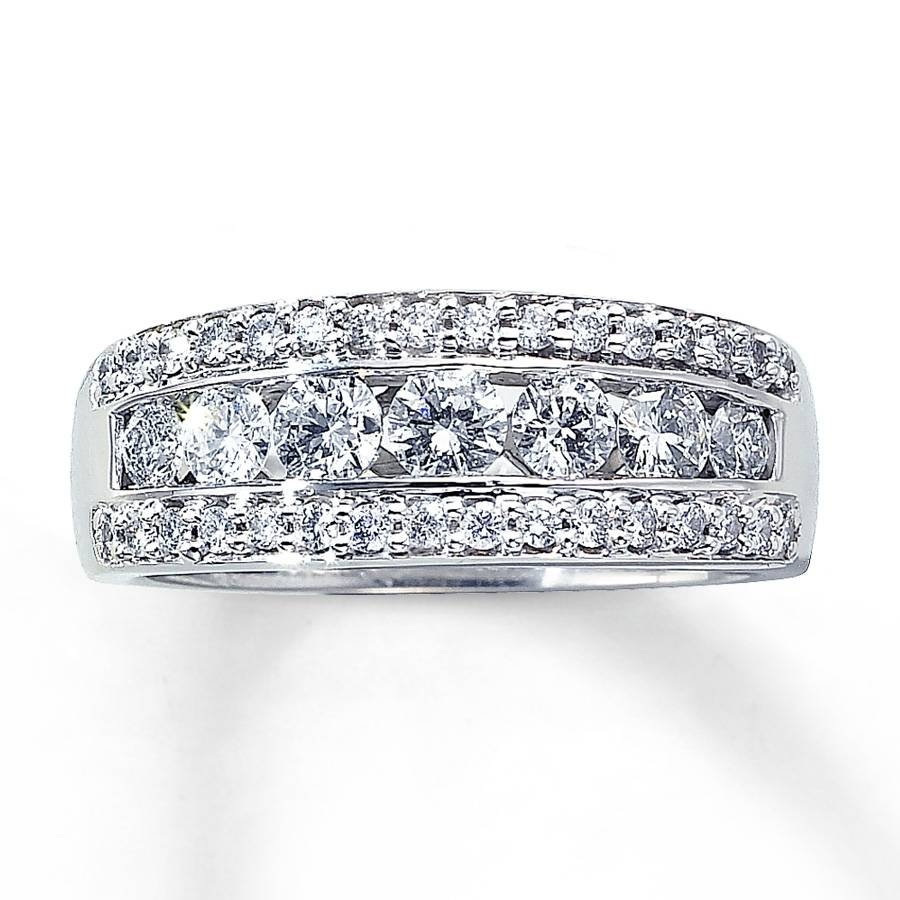 Jared – Diamond Ring 1 Ct Tw Round Cut 14k White Gold Intended For Most Recent 1 Ct Diamond Anniversary Rings (Gallery 13 of 15)