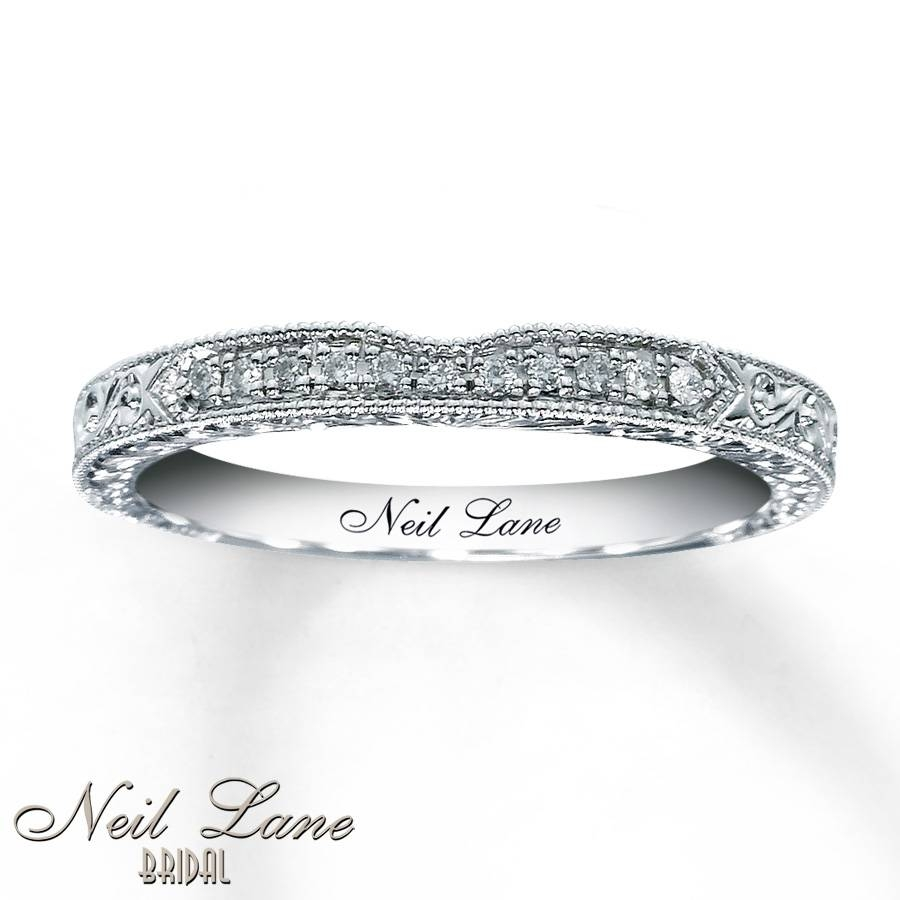 Jared – ***neil Lane Bridal™ 14K White Gold Diamond Wedding Band With Most Popular Neil Lane Anniversary Rings (Gallery 20 of 25)