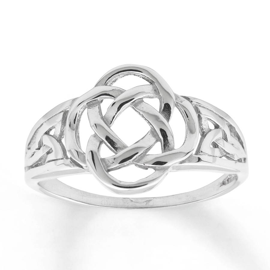 Jared – Women's Celtic Knot Ring 14K White Gold Within Most Popular Celtic Anniversary Rings (View 16 of 25)