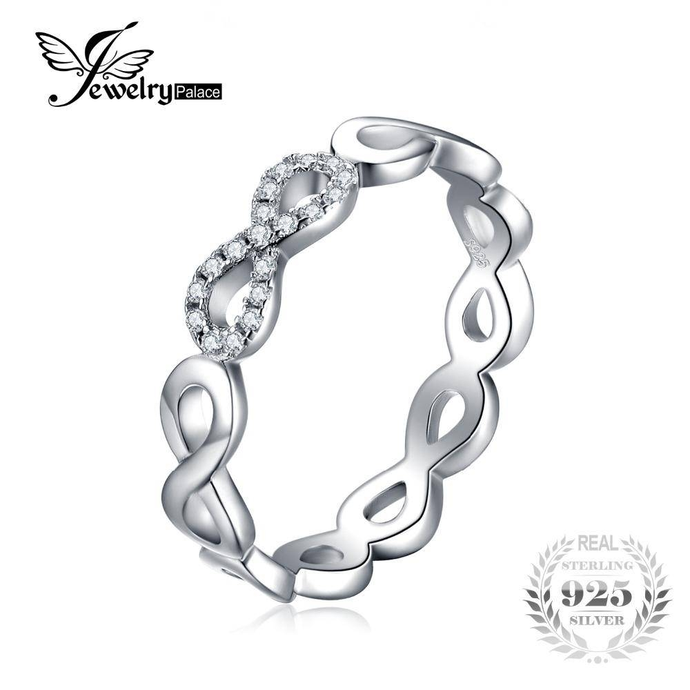 Jewelrypalace Infinity Forever Love Anniversary Promise Ring Pure Inside 2017 Infinity Anniversary Rings (View 15 of 25)