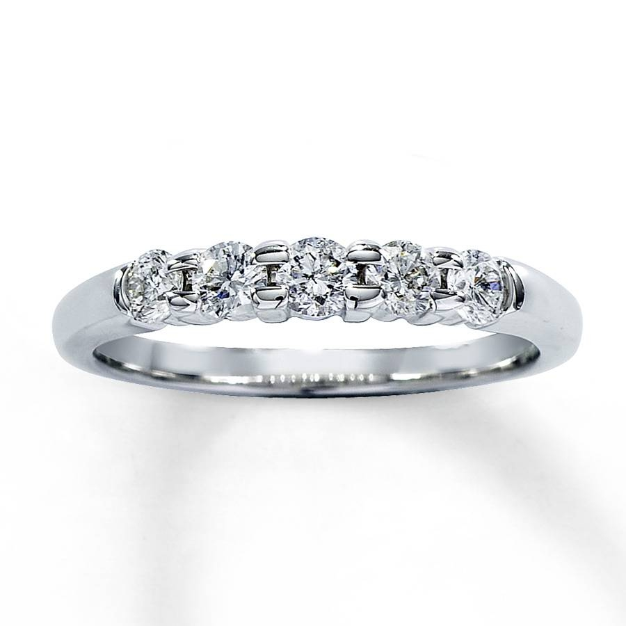 Kay – Diamond Anniversary Band 1/2 Ct Tw Round Cut 14K White Gold Within 2017 2 Carat Diamond Anniversary Rings (View 9 of 15)