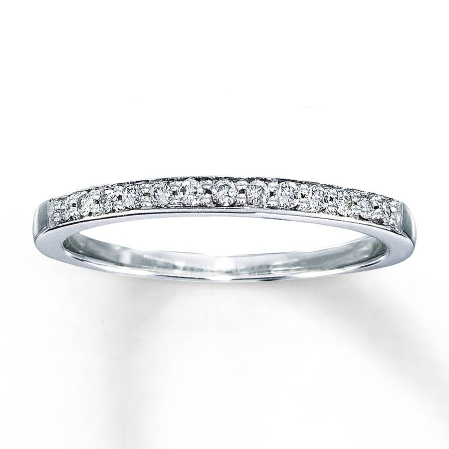 Kay – Diamond Anniversary Band 1/8 Ct Tw Round Cut 10k White Gold In Recent Kay Jewelers Anniversary Rings (View 12 of 25)