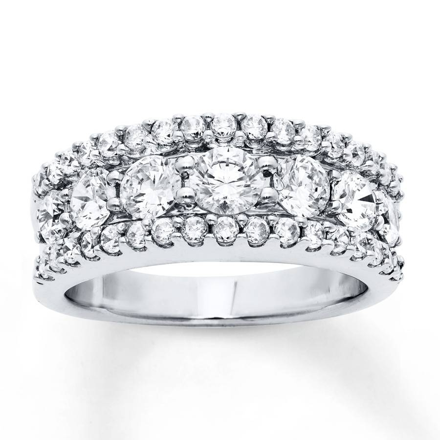 Kay – Diamond Anniversary Band 2 Carats Tw Round Cut 14K White Gold Throughout Most Recent 3 Carat Diamond Anniversary Rings (View 12 of 25)