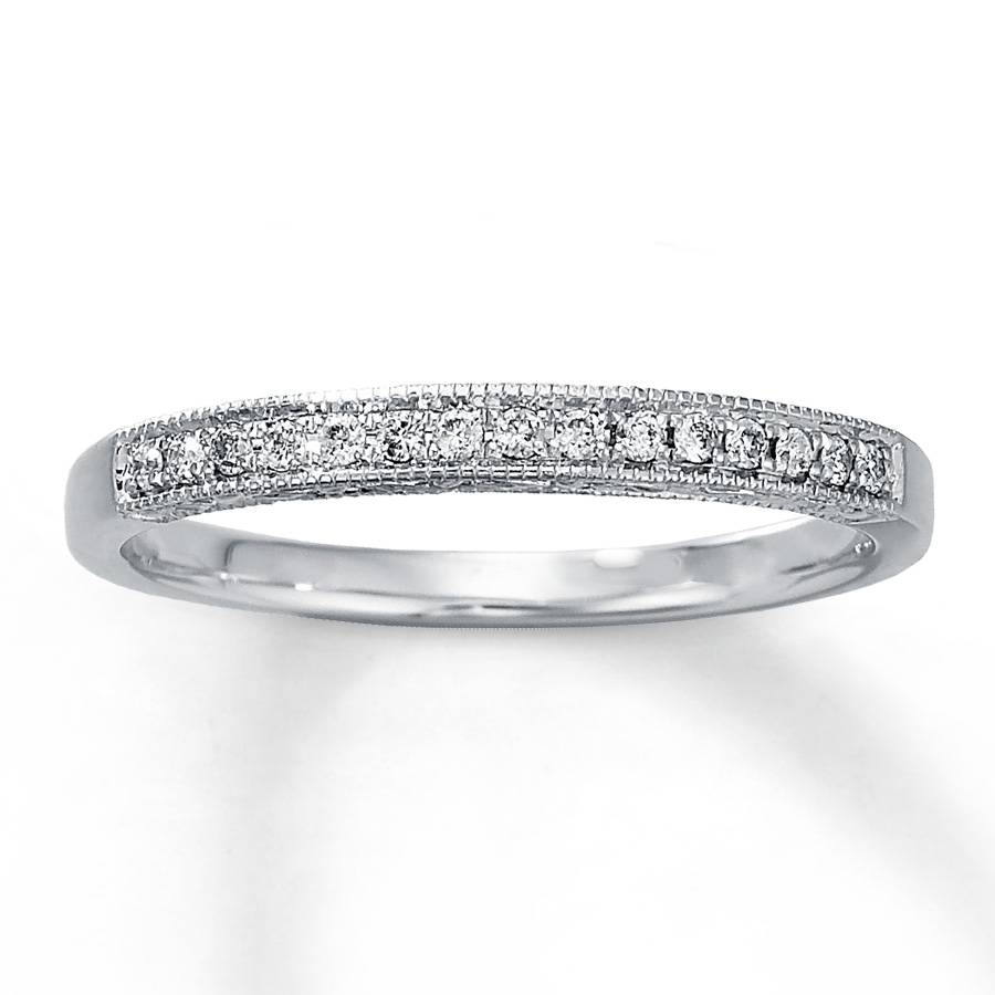 Kay – Diamond Anniversary Ring 1/10 Ct Tw Round Cut 10k White Gold Throughout Best And Newest Kay Jewelers Anniversary Rings (View 14 of 25)