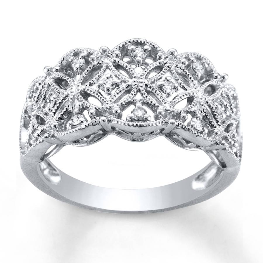 Kay – Diamond Anniversary Ring 1/5 Ct Tw Round Cut Sterling Silver In 2017 Diamond Anniversary Rings (View 18 of 25)