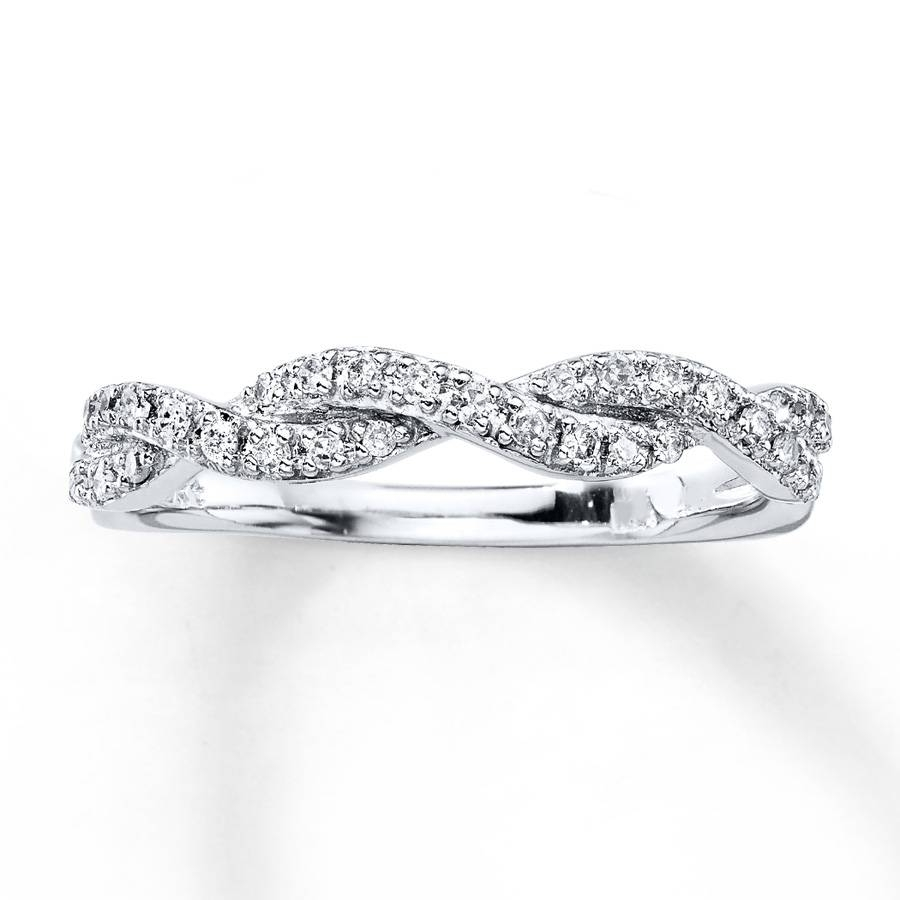 Kay – Diamond Anniversary Ring 1/6 Ct Tw Round Cut 10K White Gold In Best And Newest Kay Jewelers Anniversary Rings (Gallery 2 of 25)