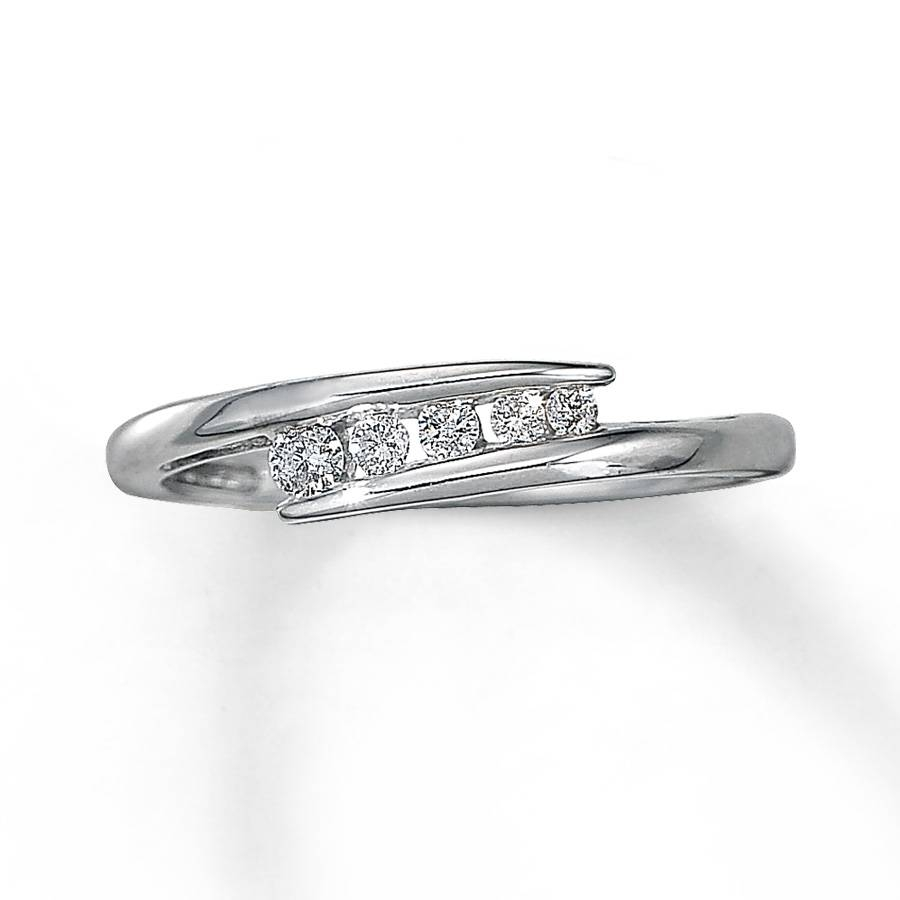 Kay – Diamond Anniversary Ring 1/8 Ct Tw Round Cut 10k White Gold With Best And Newest Kay Jewelers Anniversary Rings (View 16 of 25)